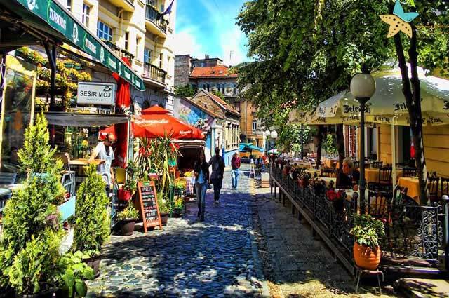 خیابان اسکادارلیا - جاذبه های گردشگری صربستان