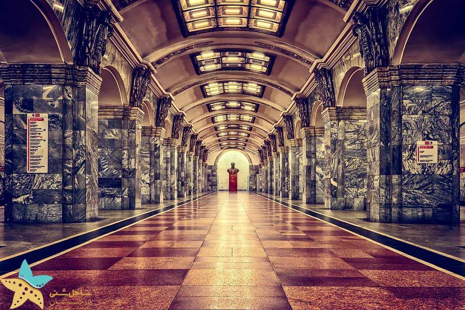 یک ایستگاه مترو در روسیه - جاذبه های گردشگری روسیه