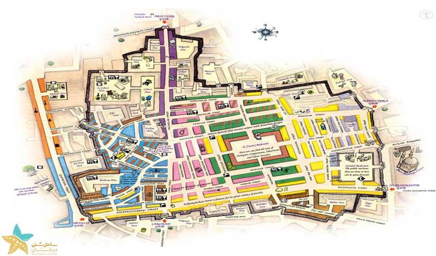 نقشه بازار بزرگ استانبول