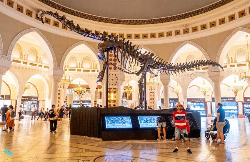 فسیل دایناسور در دبی مال