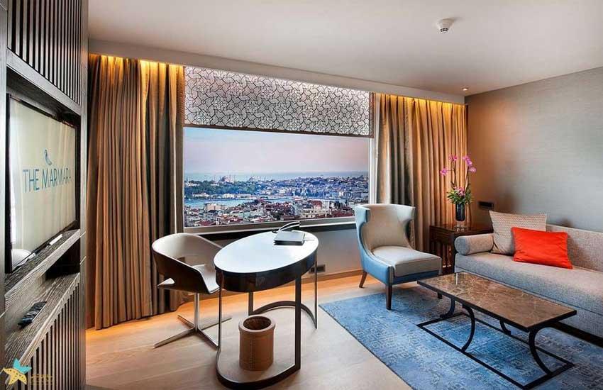 اتاق های هتل مارمارا استانبول