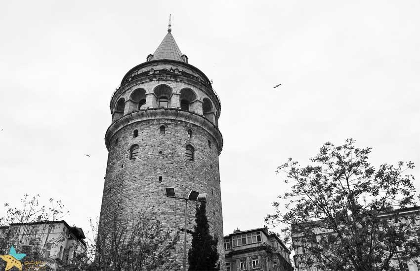 عکس قدیمی از برج گالاتا