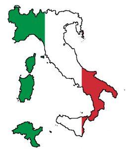 نقشه + پرچم ایتالیا