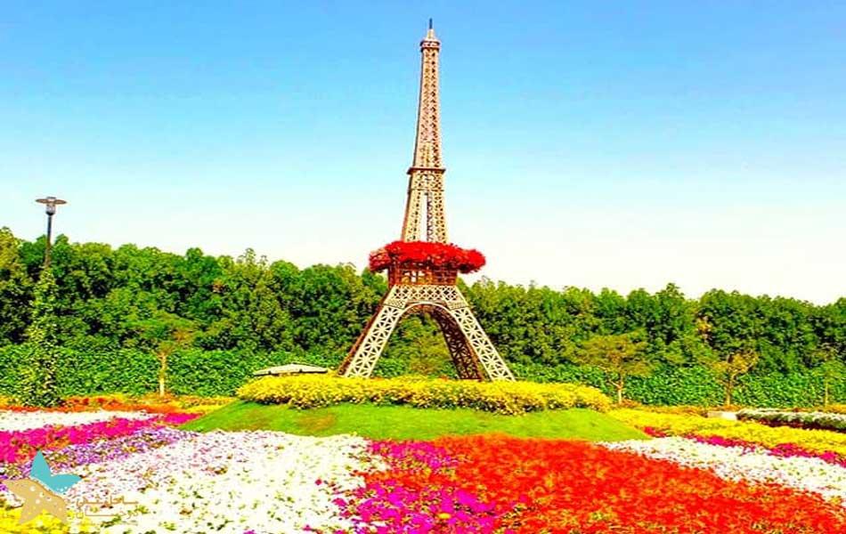 برج ایفل باغ گل