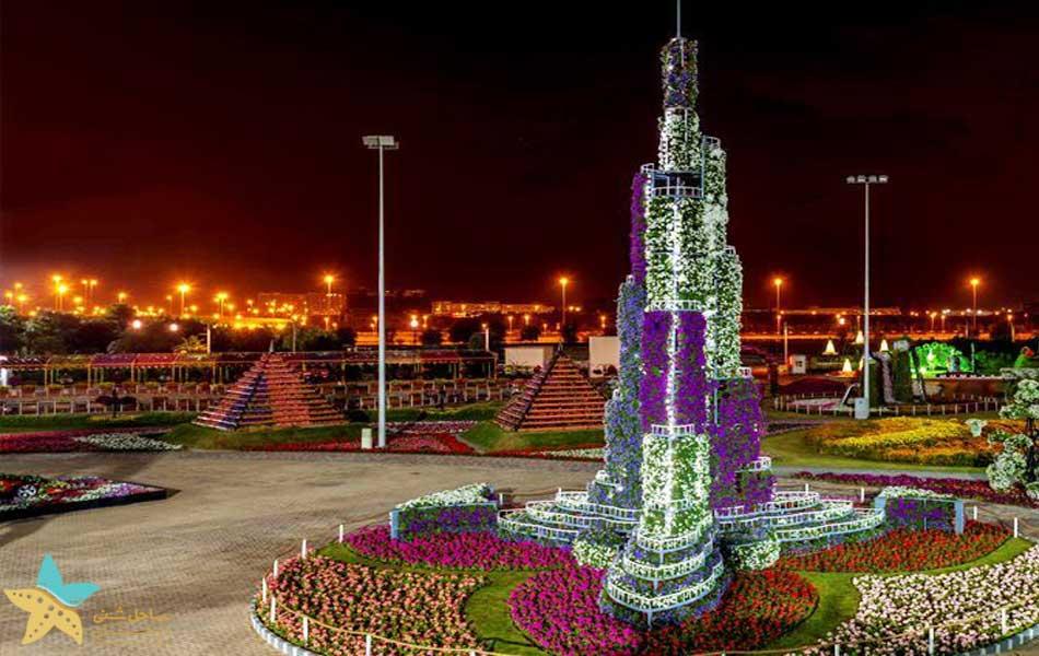برج خلیفه باغ گل