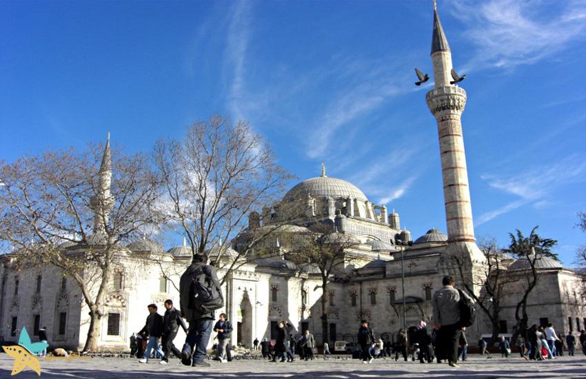 مسجد بایزید استانبول   معروف ترین مساجد استانبول