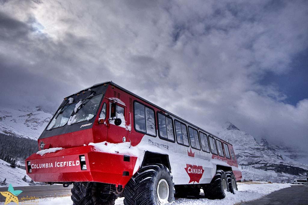گردش در یخچال طبیعی آتاباسکا