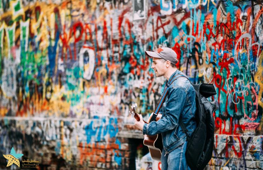 گشتی در خیابان آربات مسکو