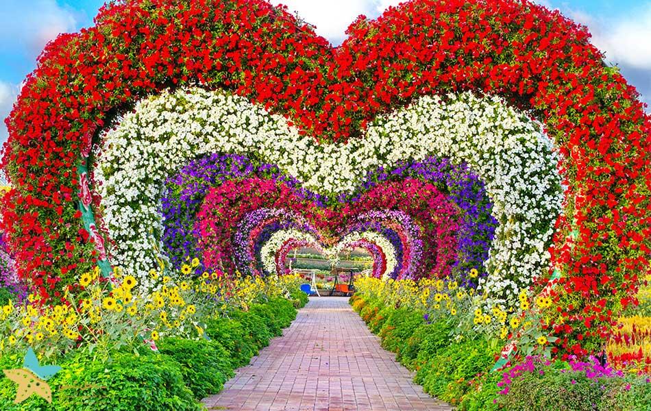 گذرگاه قلب باغ معجزه دبی