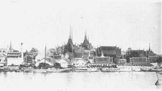 تثصویری از کاخ بزرگ بانکوک در سال 1880