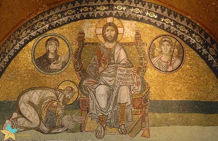 نقاشی موزاییک لئوی ششم (Leo VI)