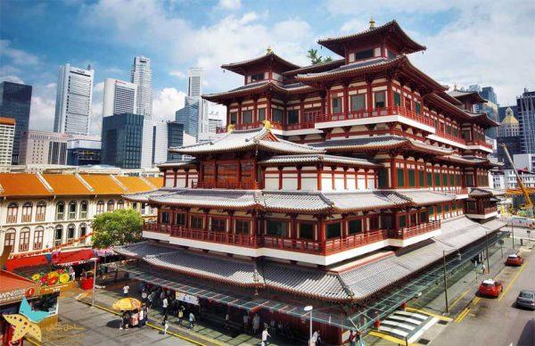 معبد دندان بودا سنگاپور | بهترین شهرهای توریستی آسیا