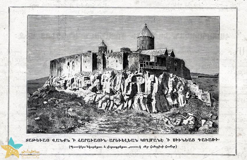 تصویری از صومعه تاتو در سال 1881