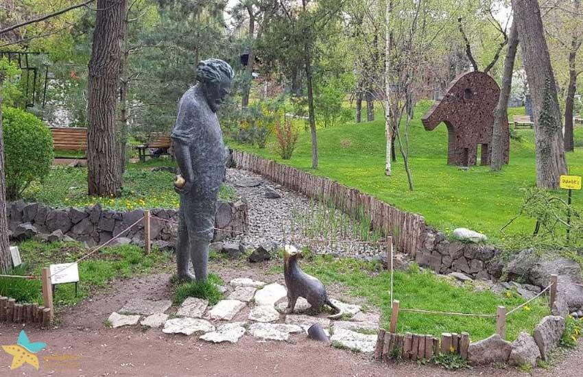 مجسمهی گئورگ امین در پارک عشاق ایروان