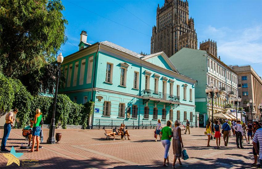 خیابان آربات مسکو | تور مسکو