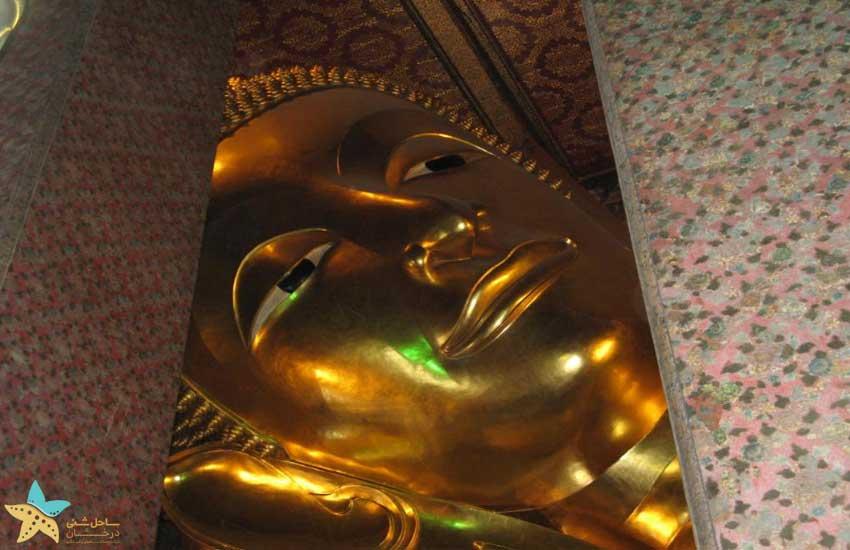 سر مجسمه بودای خوابیده