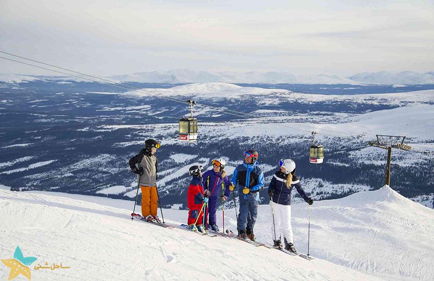 اسکی در آووره - جاذبههای گردشگری سوئد