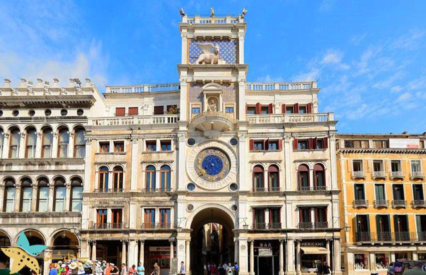 جاذبههای گردشگری ایتالیا - برج ساعت میدان سن مارکو