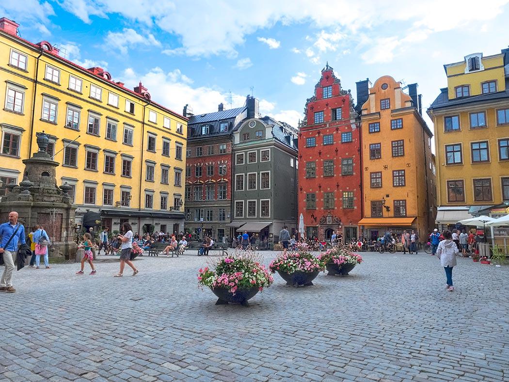 میدان اصلی شهر قدیمی استکهلم - سوئد