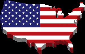 پرچم و نقشه آمریکا