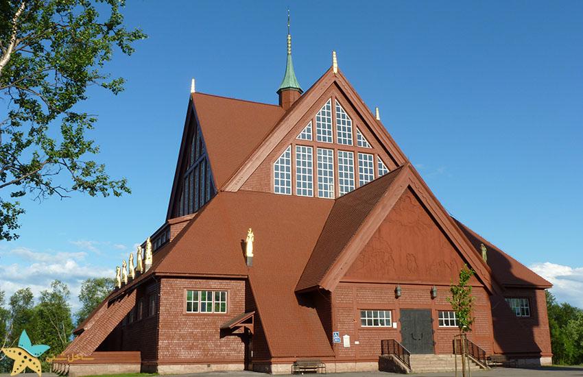 کلیسای کیرونا - جاذبههای گردشگری سوئد
