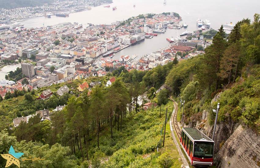 Floibanen برگن - جاذبههای گردشگری نروژ