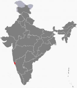 موقعیت ایالت گوا در کشور هند