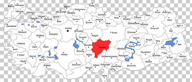 نقشه کایسری ترکیه