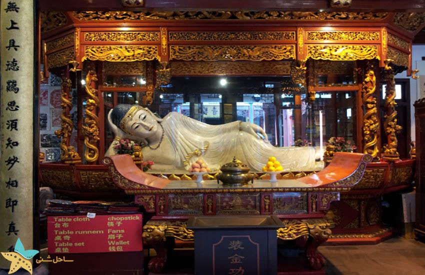 معبد جید بودا - مجسمه بودای خوابیده