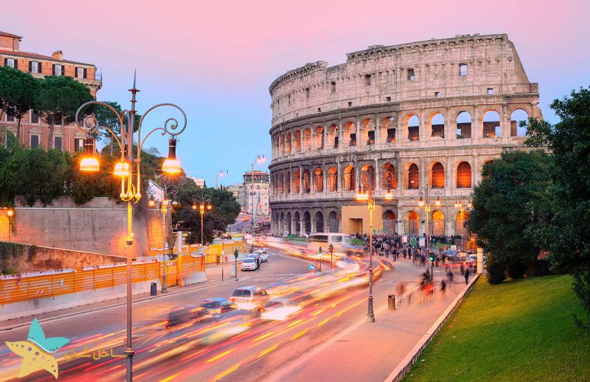 نمایی از شهر رم ایتالیا