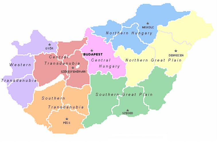 نقشهی کشور مجارستان