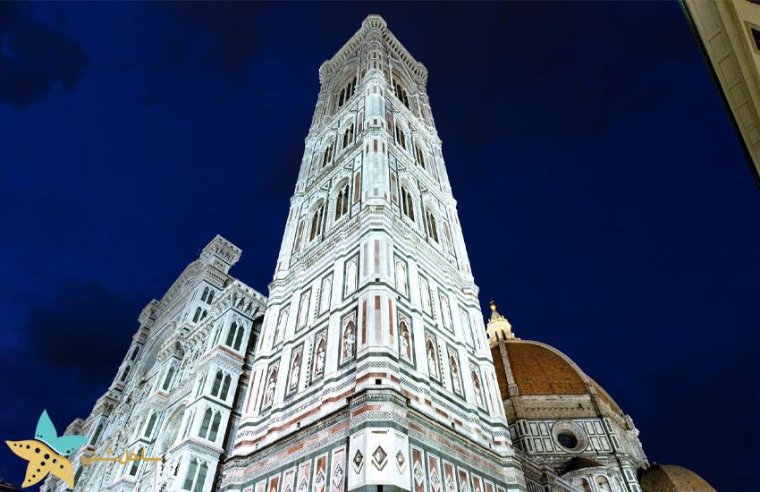 Giotto's Campanile در فلورانس ایتالیا