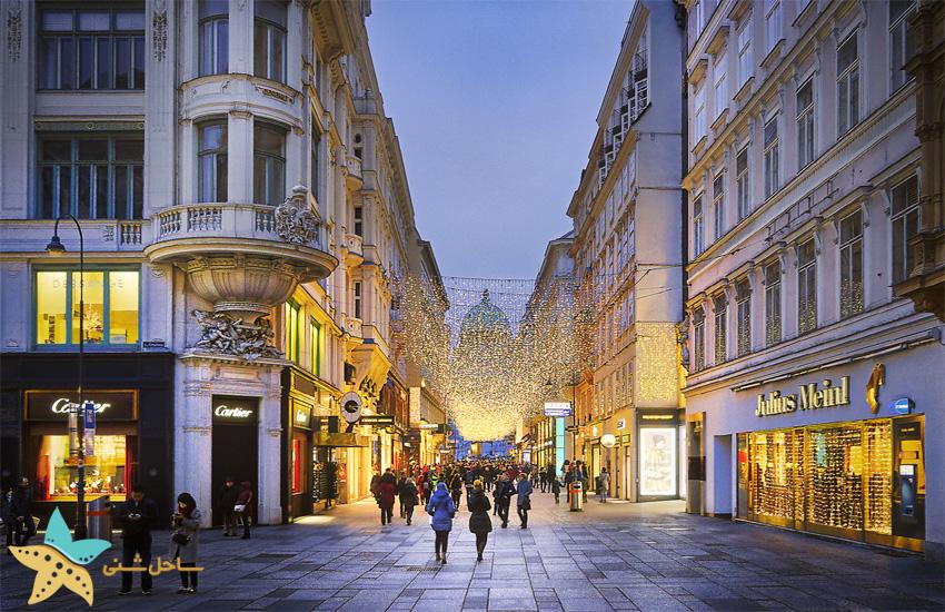 خیابان Kohlmarkt در وین