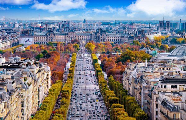 خیابان شانزلیزه | تور پاریس و آمستردام