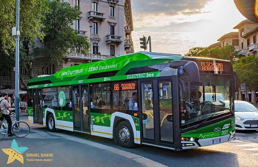 اتوبوس برقی در میلان