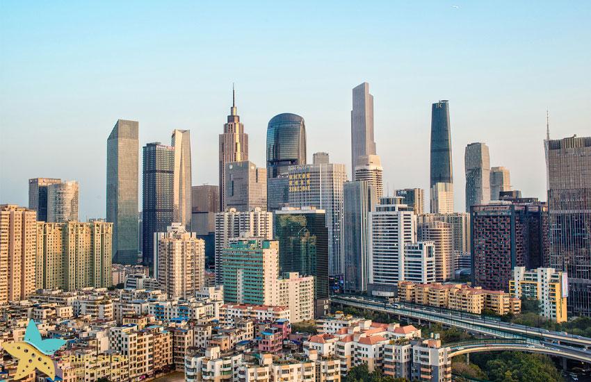 نمایی از شهر گوانگژو در چین