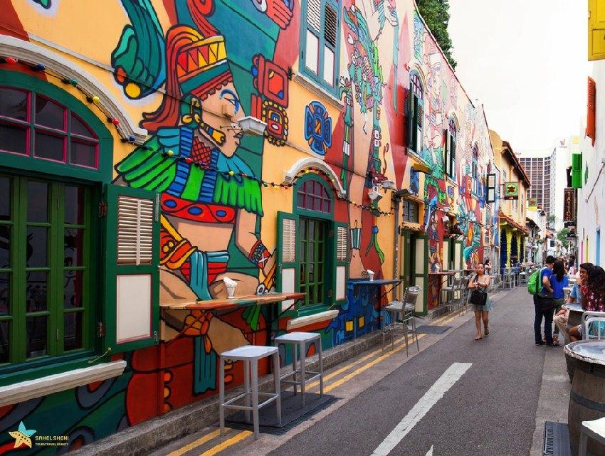 خیابان حاجی در سنگاپور جاذبههای گردشگری سنگاپور