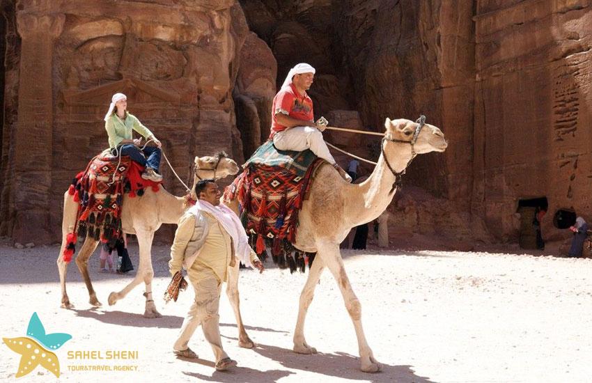 شترسواری در پترا اردن