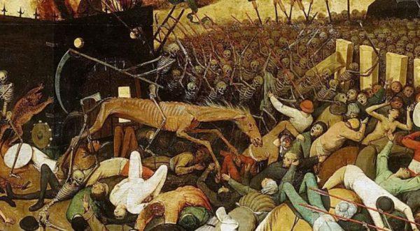 نقاشی پیروزی مرگ یادگار دوران طاعون
