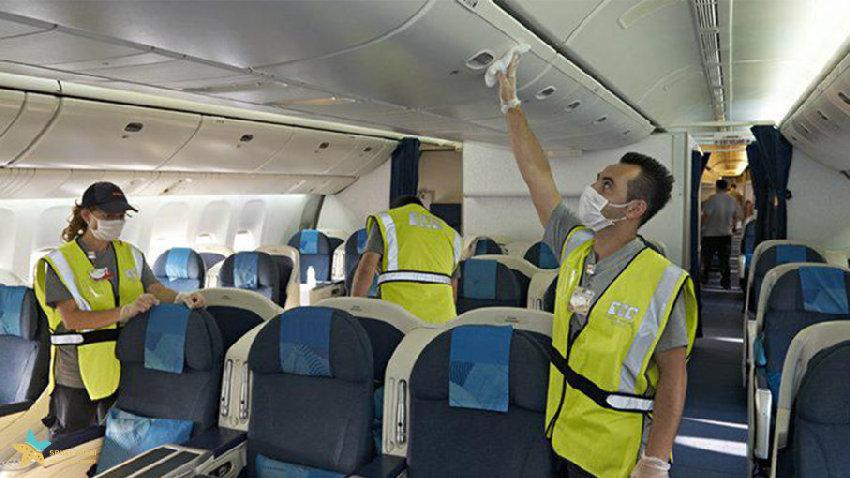 تاثیر کرونا به روی تمیز شدن هواپیماها