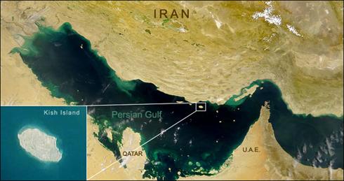عکس ماهوارهای جزیره کیش
